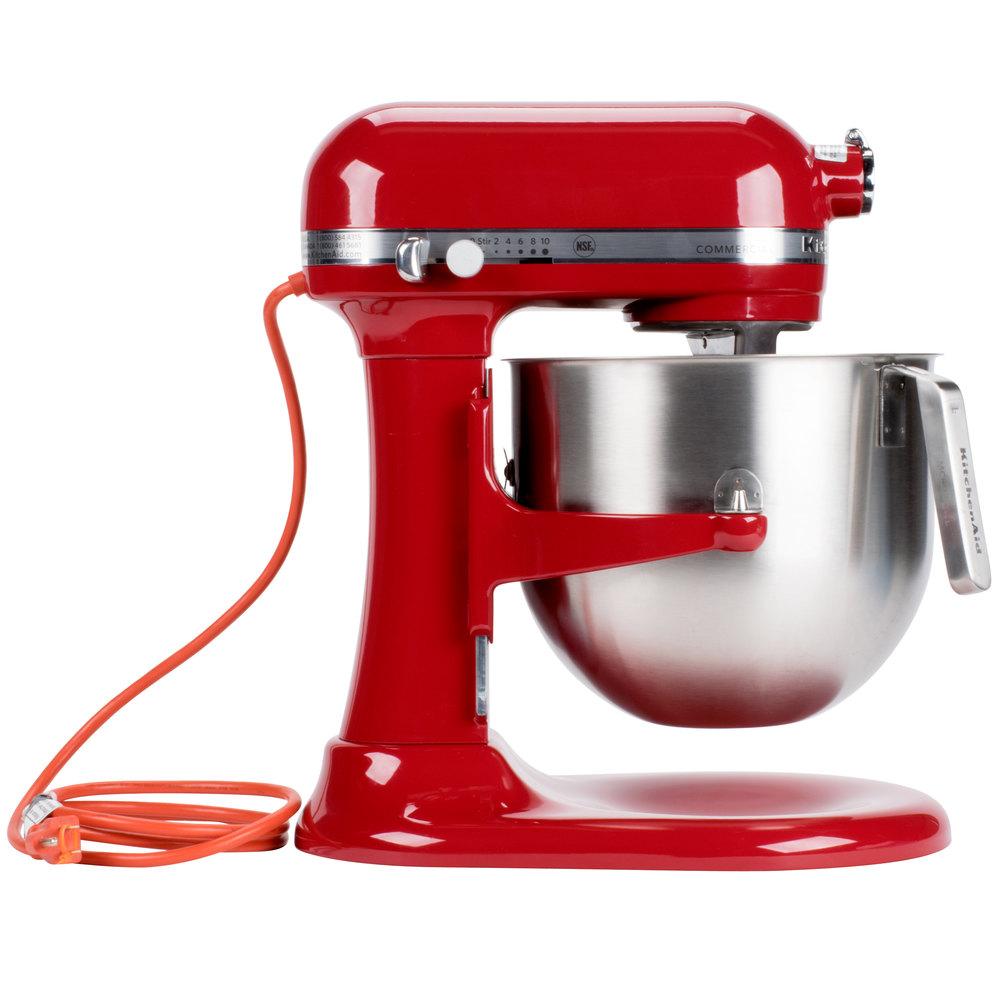 Kitchenaid Professional Heavy Duty Stand Mixer red kitchenaid 8 qt. commercial mixer ksm8990er | webstaurantstore