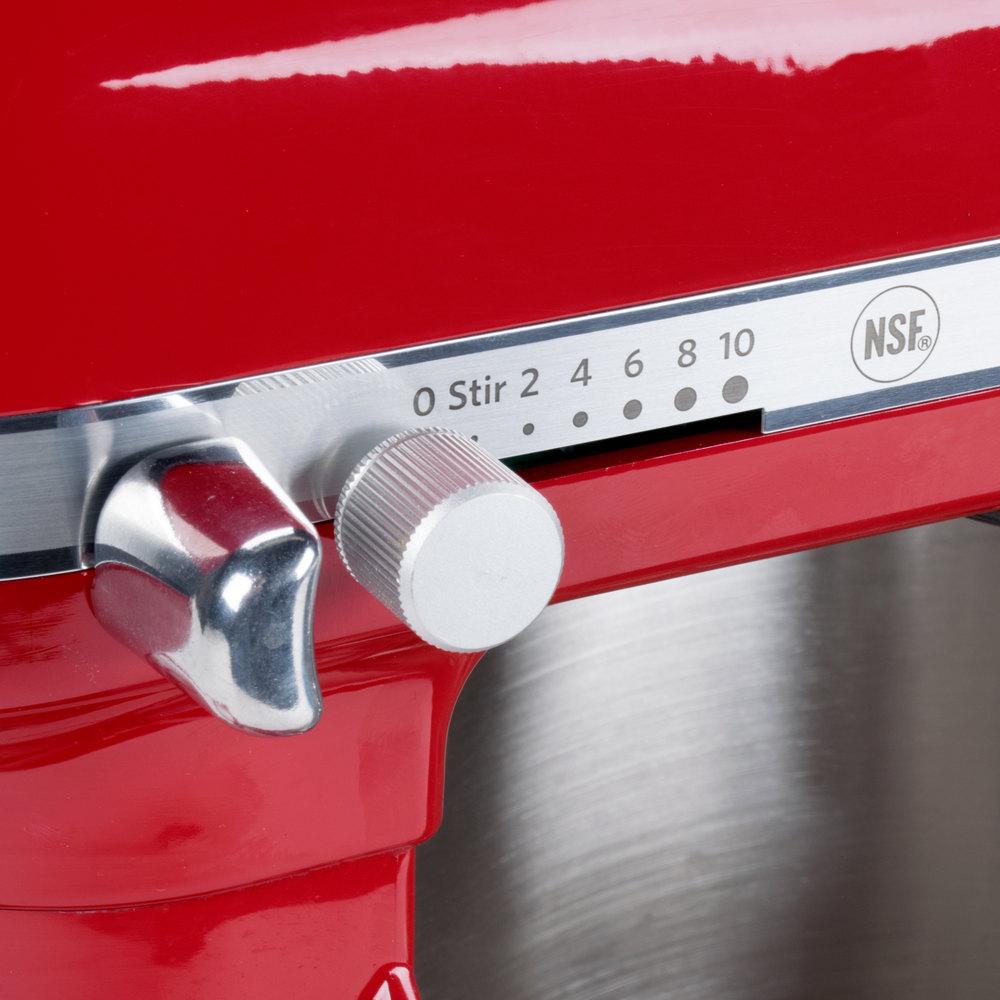 Mixer speed adjustment knob