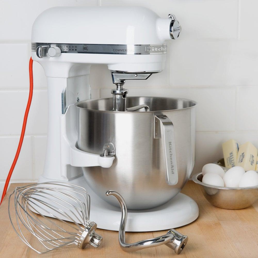 White KitchenAid 8 qt. Commercial Mixer KSM8990WH | WebstaurantStore
