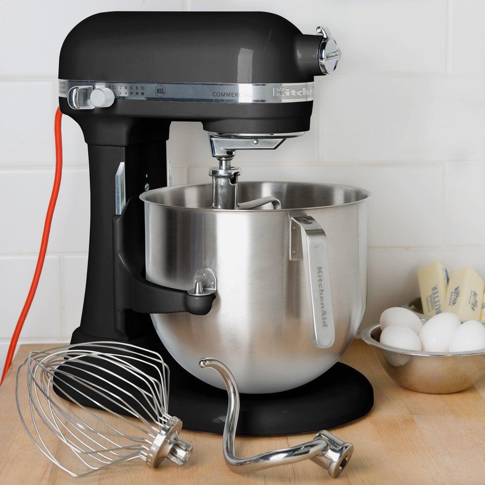 Black Kitchenaid 8 Qt Commercial Mixer Ksm8990ob Webstaurantstore