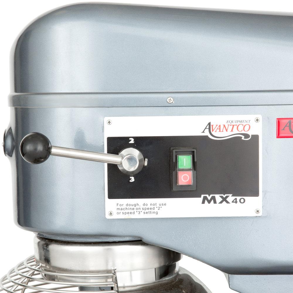 Avantco MX40 40 Qt. Gear Driven Commercial Planetary Floor Mixer ...