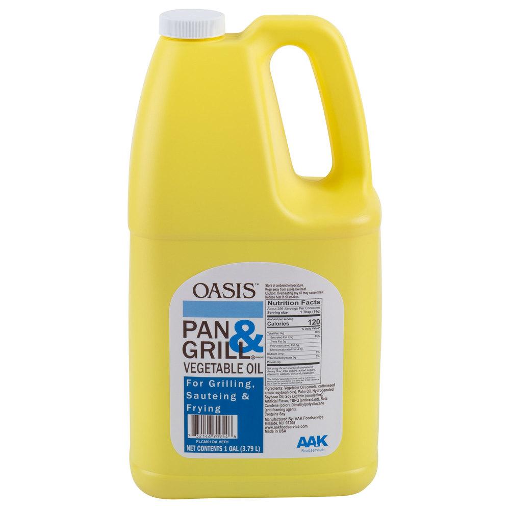 Jug of Oasis pan & grill cooking oil
