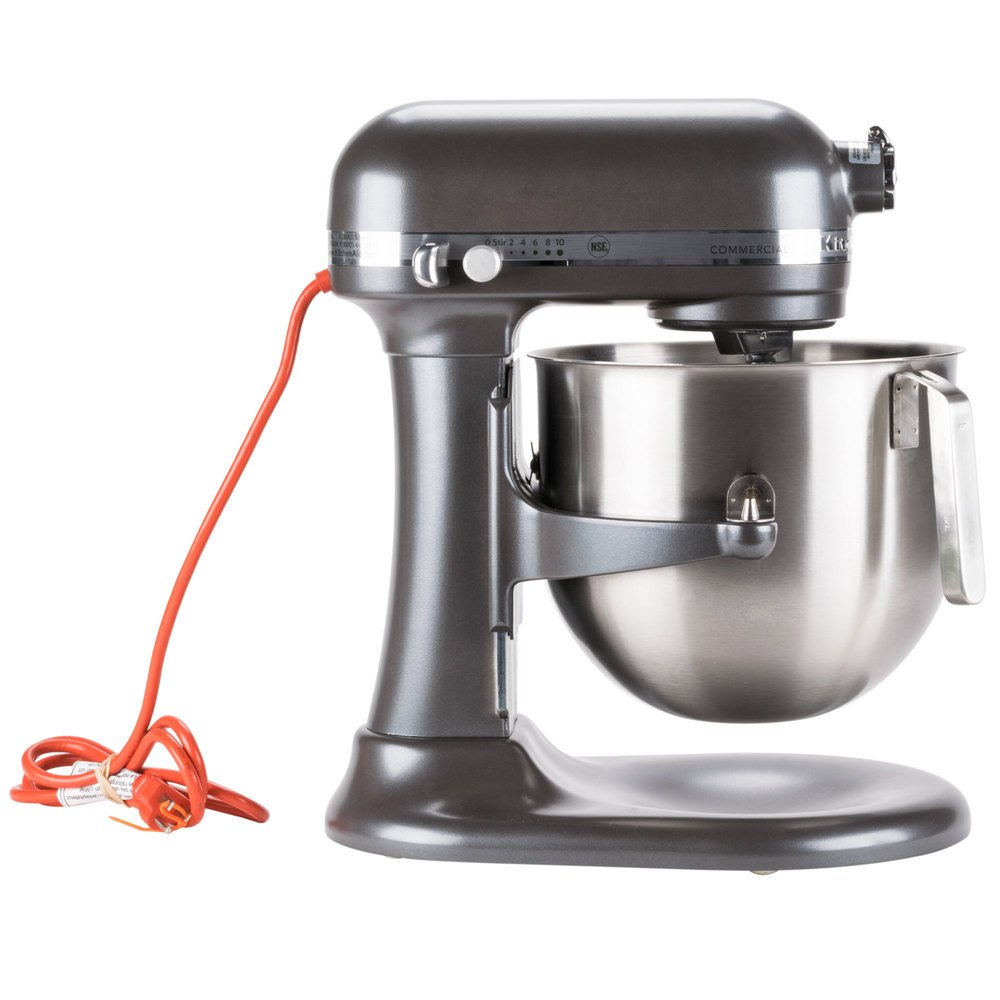 pewter kitchenaid 8 qt commercial mixer ksm8990dp webstaurantstore. Black Bedroom Furniture Sets. Home Design Ideas