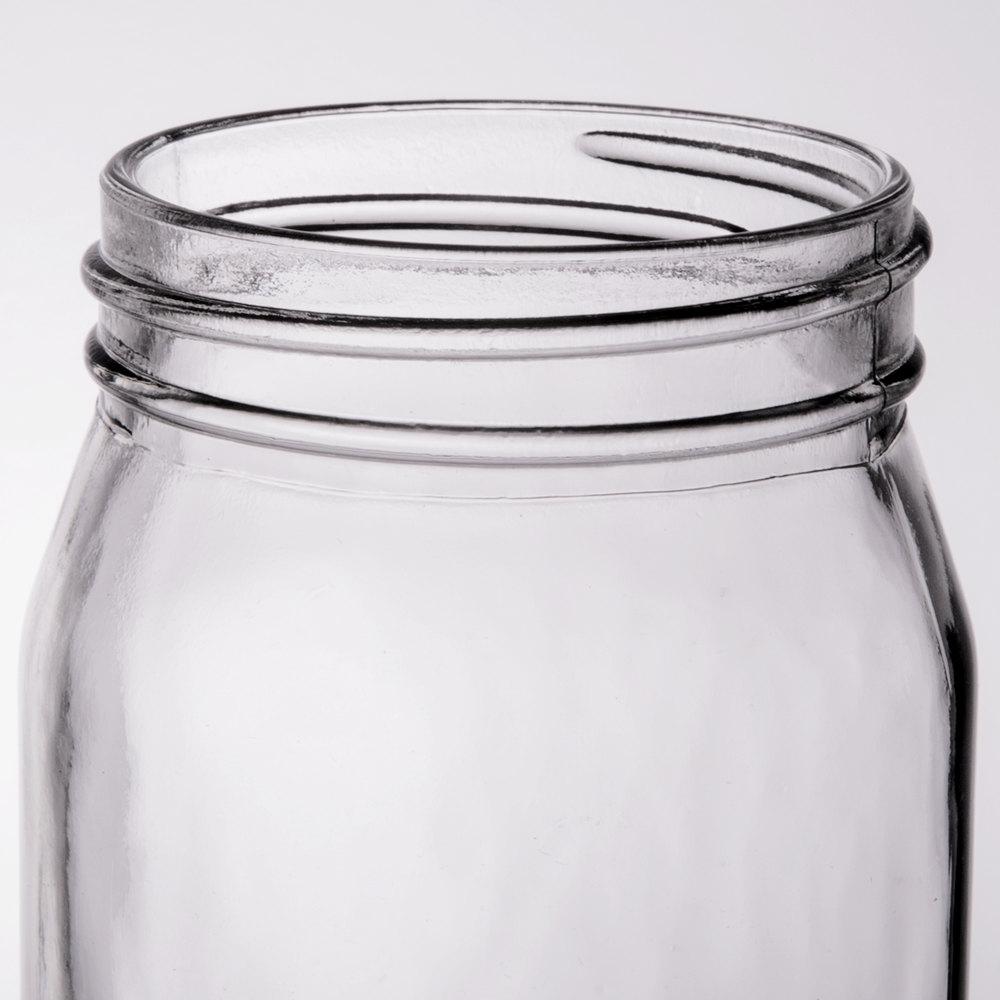 libbey 92103 16 oz glass drinking mason jar without handle 12 case. Black Bedroom Furniture Sets. Home Design Ideas