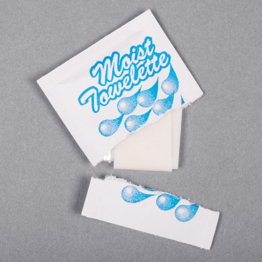 4 Quot X 6 Quot Lemon Scented Moist Towelette Wet Nap 100 Pack