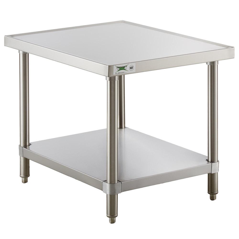 Regency 30 inch x 24 inch 16-Gauge Stainless Steel Mixer Table with Undershelf