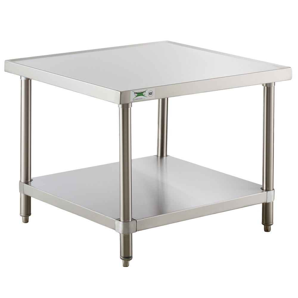 Regency 30 inch x 30 inch 16-Gauge Stainless Steel Mixer Table with Undershelf