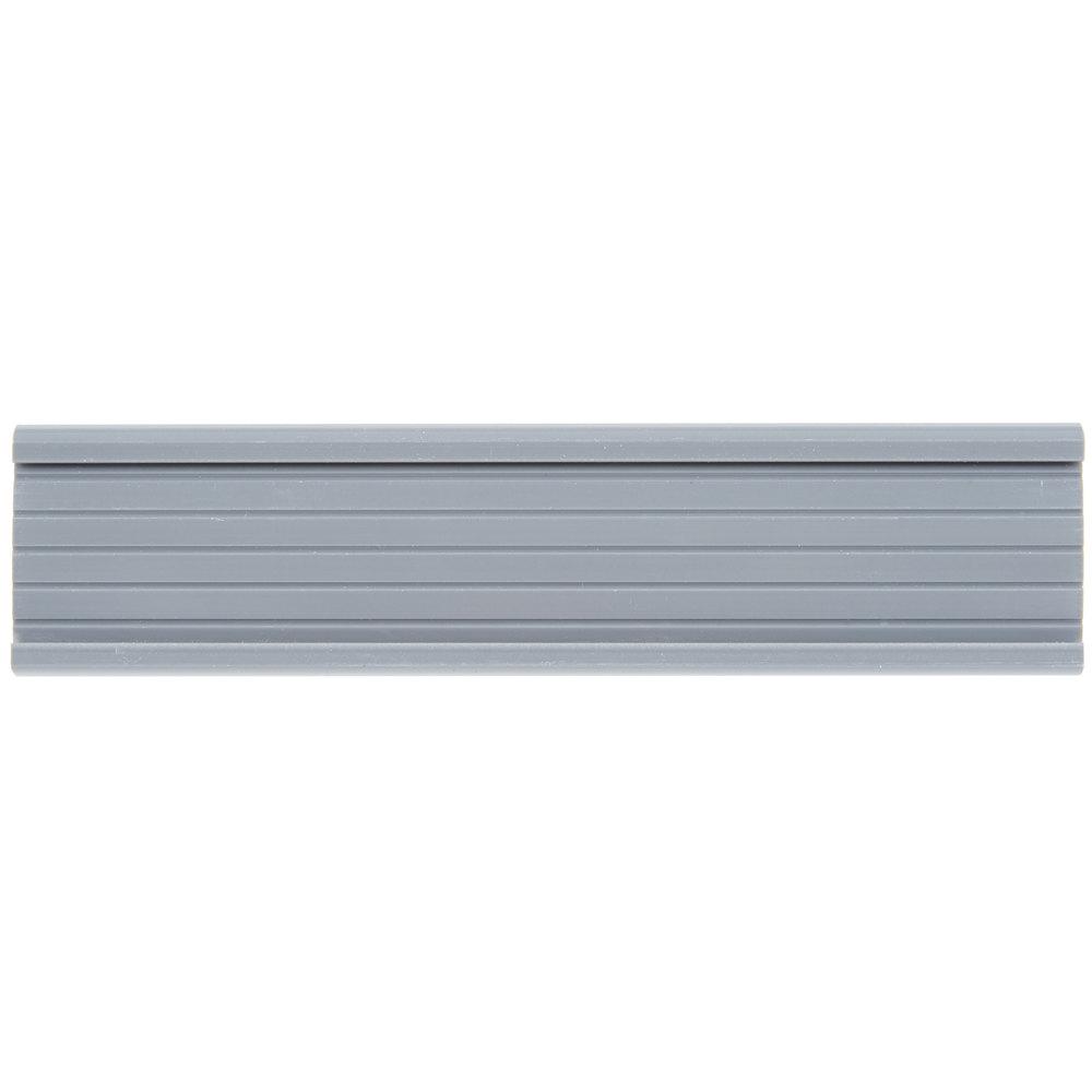 Regency 6 inch x 1 1/4 inch Gray Label Holder