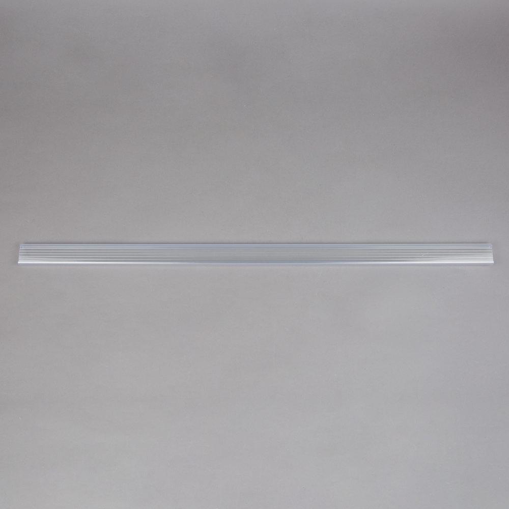 Regency 31 inch x 1 1/4 inch Clear Label Holder