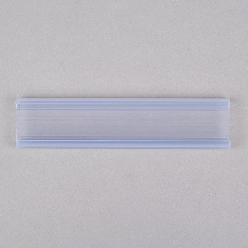 Regency 6 inch x 1 1/4 inch Clear Label Holder