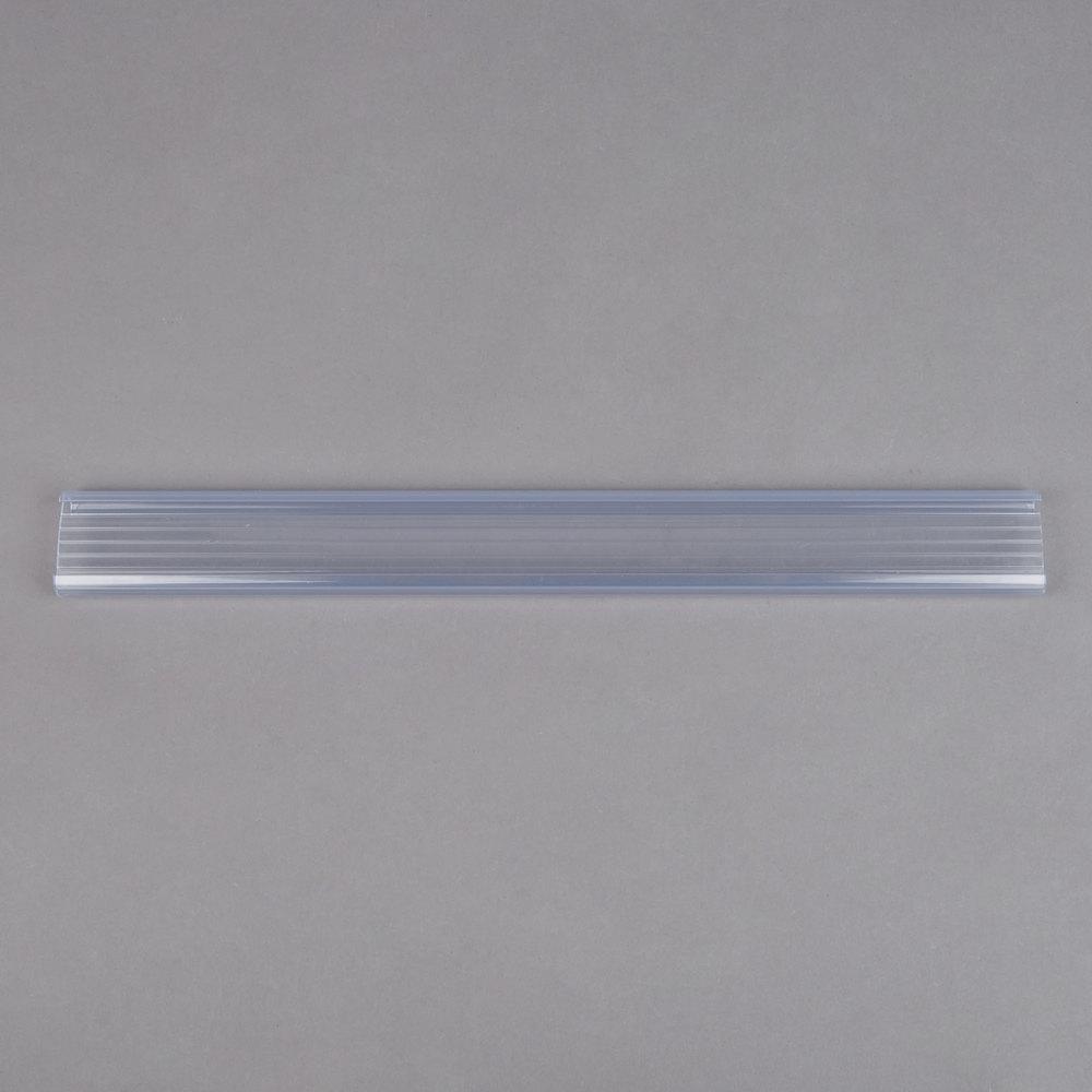 Regency 13 inch x 1 1/4 inch Clear Label Holder