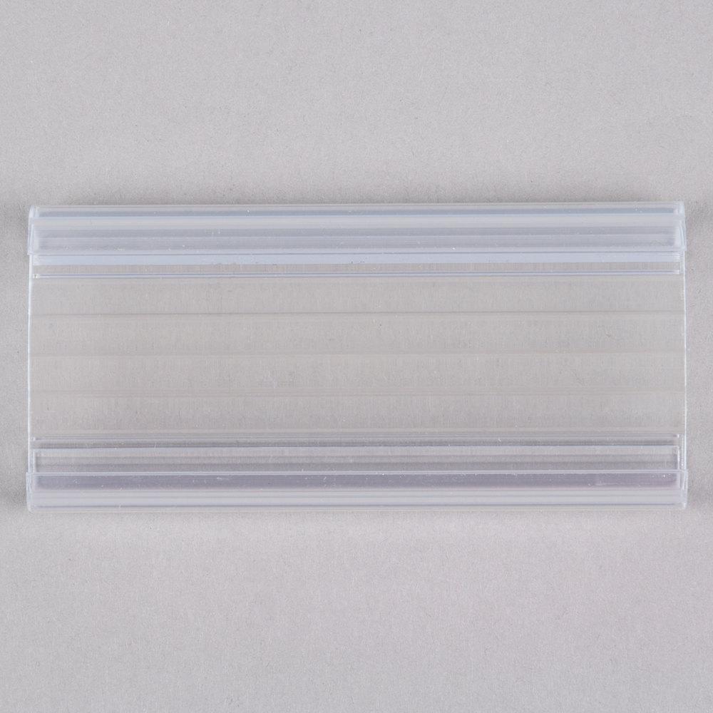 Regency 3 inch x 1 1/4 inch Clear Label Holder