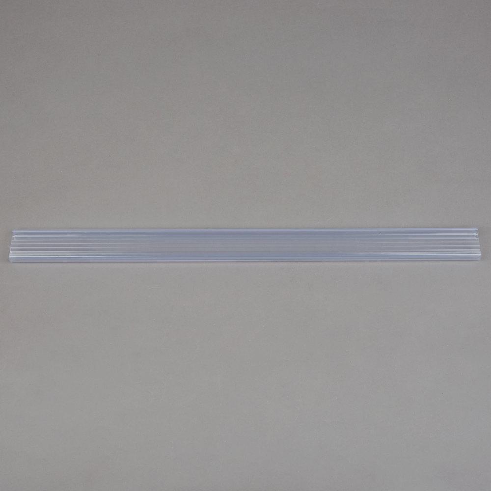 Regency 19 inch x 1 1/4 inch Clear Label Holder