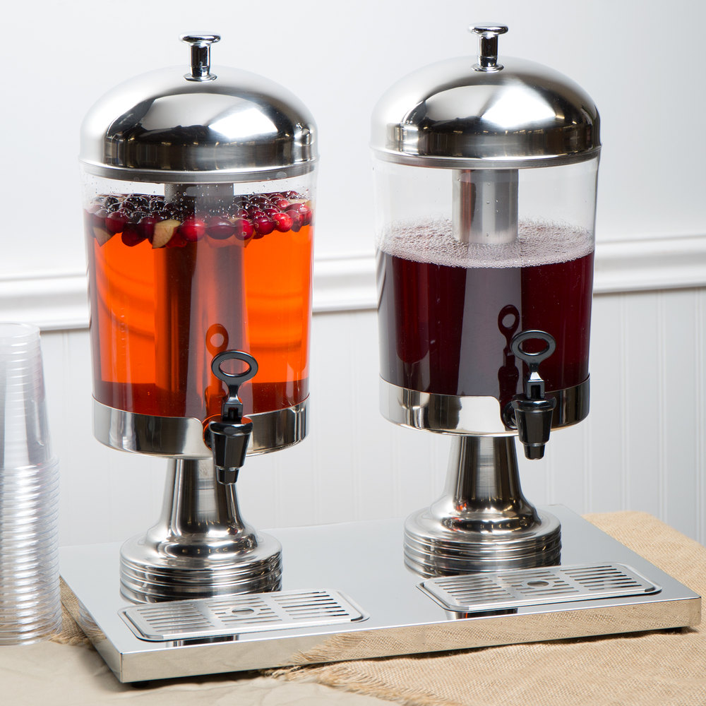 Choice 4 2 Gallon Stainless Steel Double Beverage Dispenser