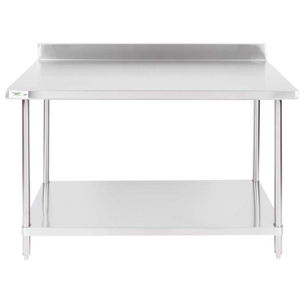 Stainless Steel Work Tables Food Prep Tables Stainless Steel Tables - Stainless steel table with backsplash and sides