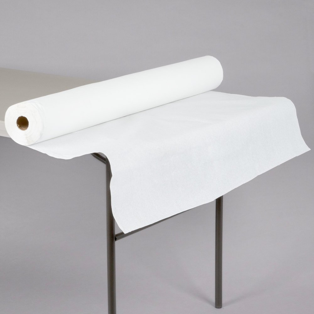 40 Quot X 300 17 White Embossed Paper Roll Table Cover