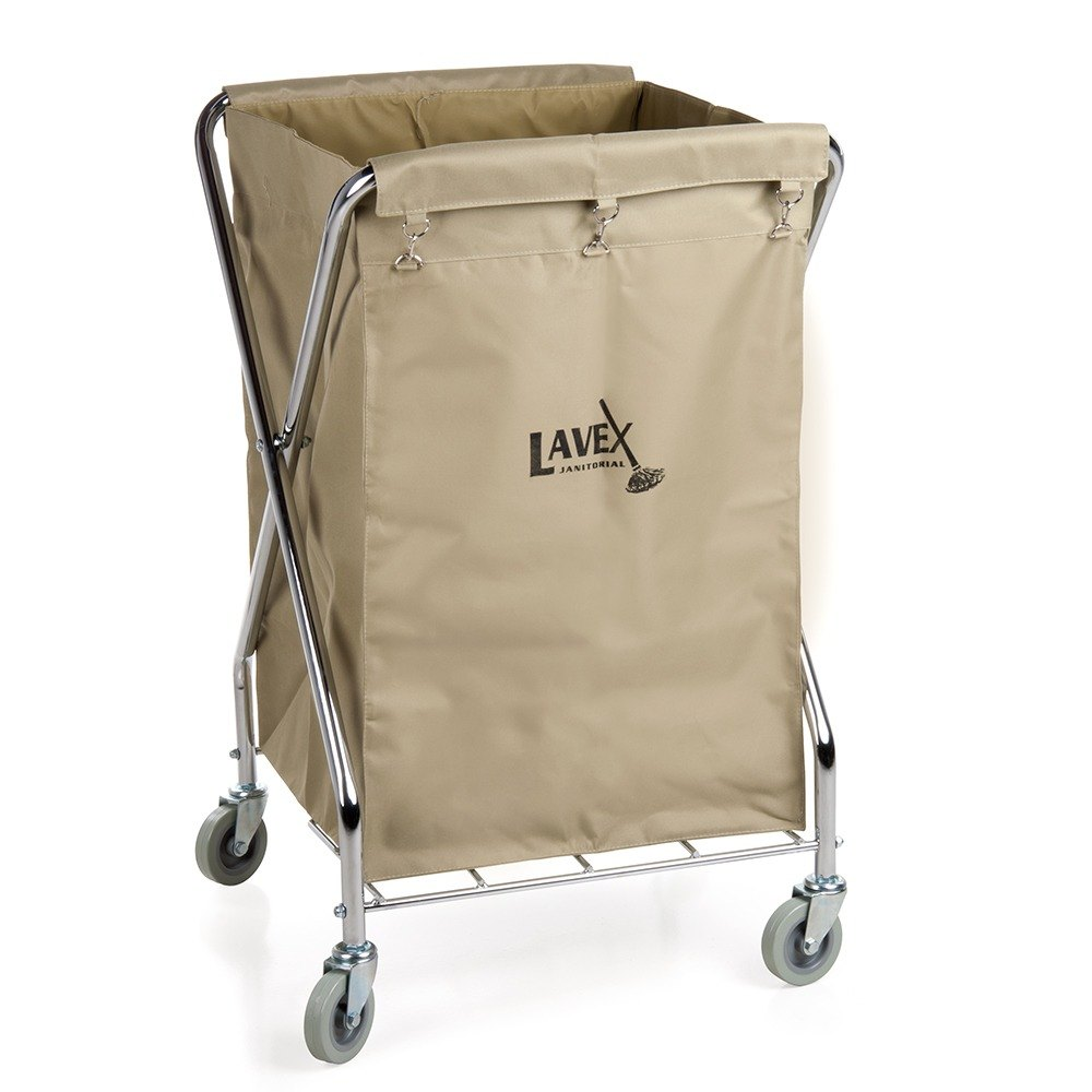 Lavex lodging 10 bushel replacement canvas liner for metal x frame folding laundry cart - Collapsible laundry basket with wheels ...