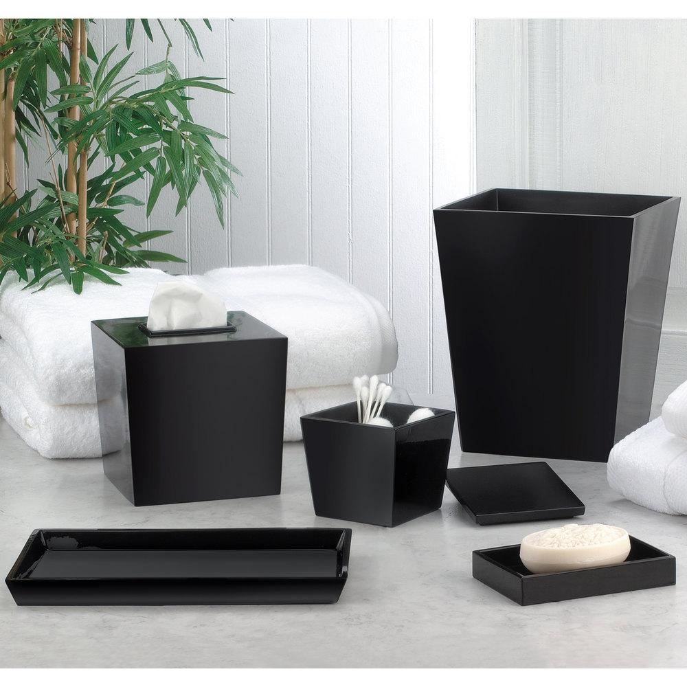 Bathroom Collections BS-SPAVTB Spa Black Hotel Amenity Tray