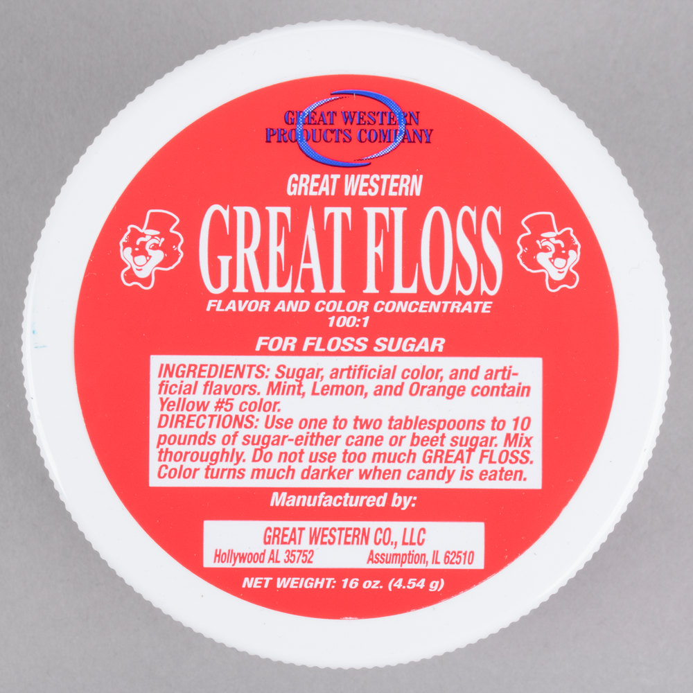 Great Western Great Floss 1 lb. Red Cherry Cotton Candy ...