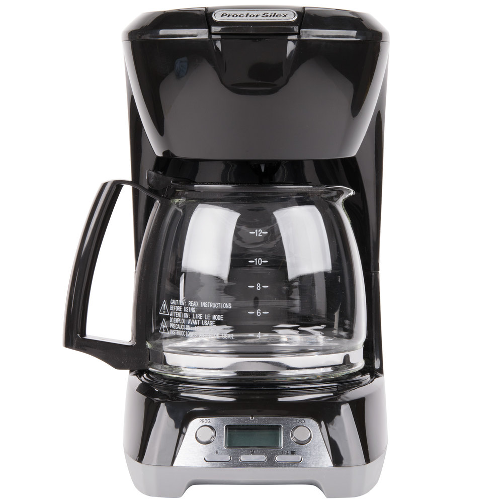 120 Volts Proctor Silex 43672 Black Programmable 12 Cup Coffee Maker With Auto Shut Off