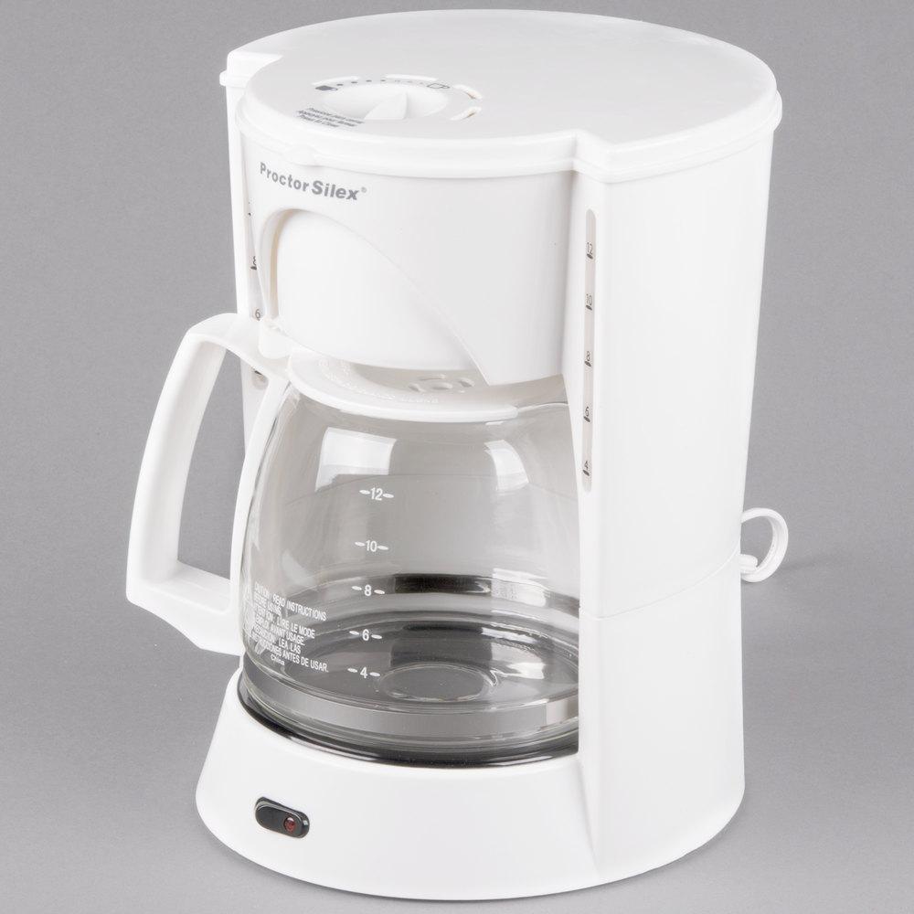 Proctor Silex Coffee Maker Not Working : Proctor Silex 48521RY White 12 Cup Coffee Maker
