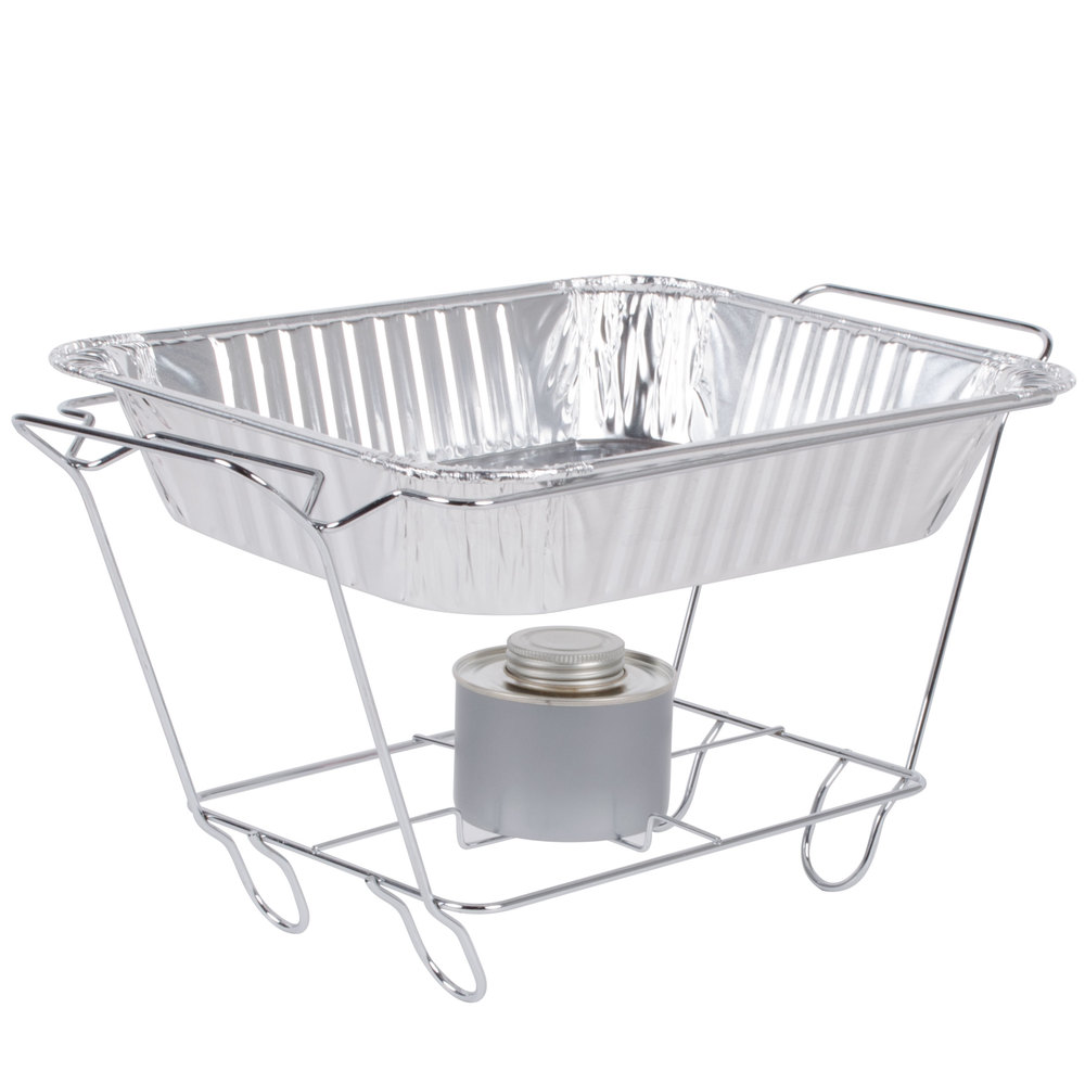 Chrome Wire Chafer Stand For 1 2 Size Disposable Pans