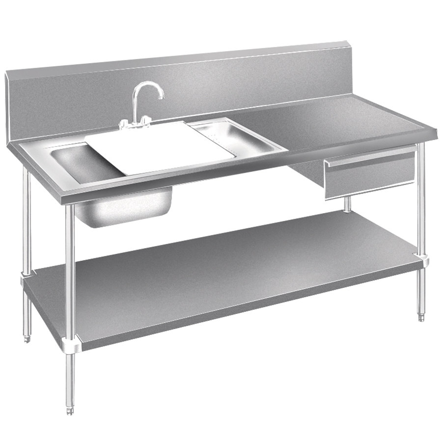 Stainless steel prep table costco 15 best images of metal - Stainless kitchen table ...