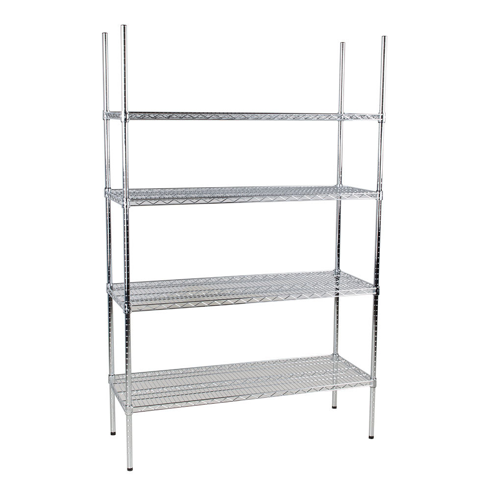 Regency 18 inch x 48 inch NSF Chrome Shelf Kit with 74 inch Posts