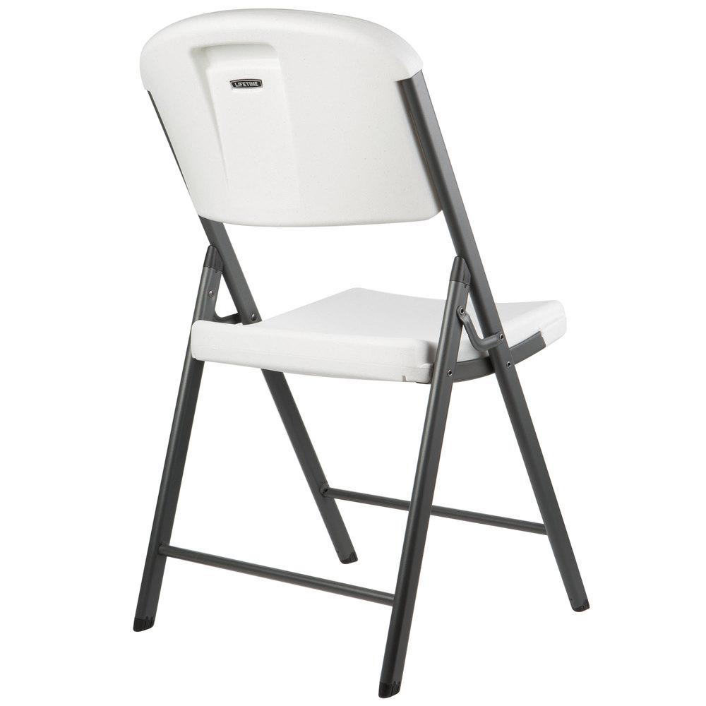 Lifetime 2802 White Contoured Folding Chair