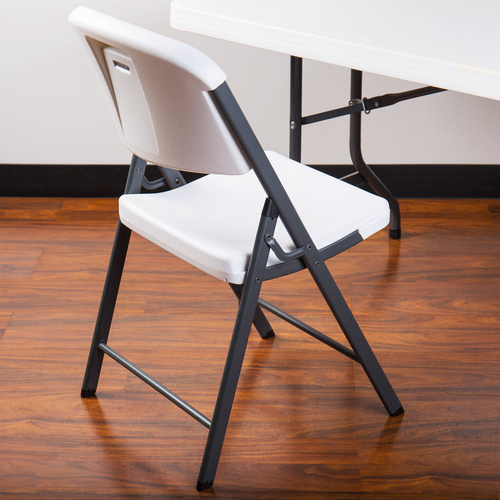Lifetime 2802 White Contoured Folding Chair