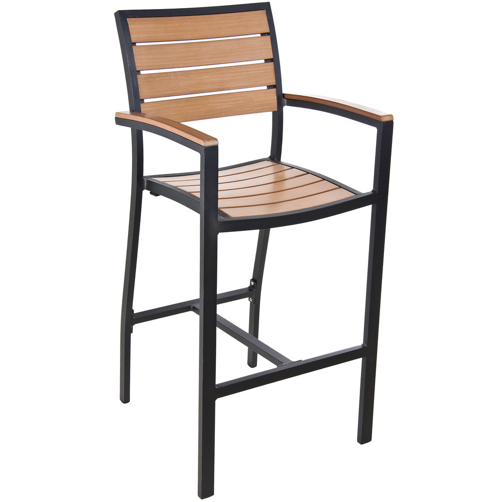 Patio Bar Chairs With Arms Amish Wood Outdoor Bar Stool