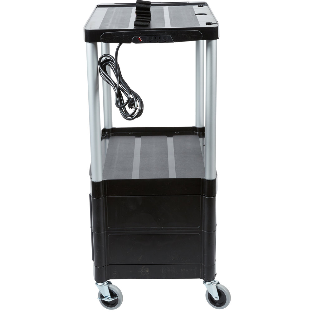 Rubbermaid  mercial Products Cart further Media Master 3 Shelf AV Cart 4 Dia Casters p 1733 in addition Endura Video Equipment Table Luxor Le26 P additionally 22104596 together with 690FG9T32BK. on rubbermaid av cart