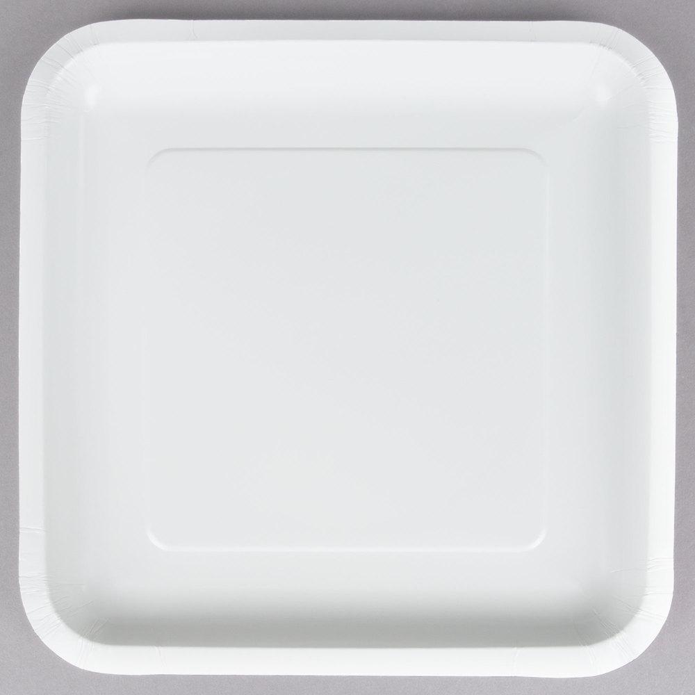 Creative Converting 463272 9 inch White Square Paper Plate - 180/Case  sc 1 st  WebstaurantStore & Dart Solo SCC8PSC Bare 8 1/4