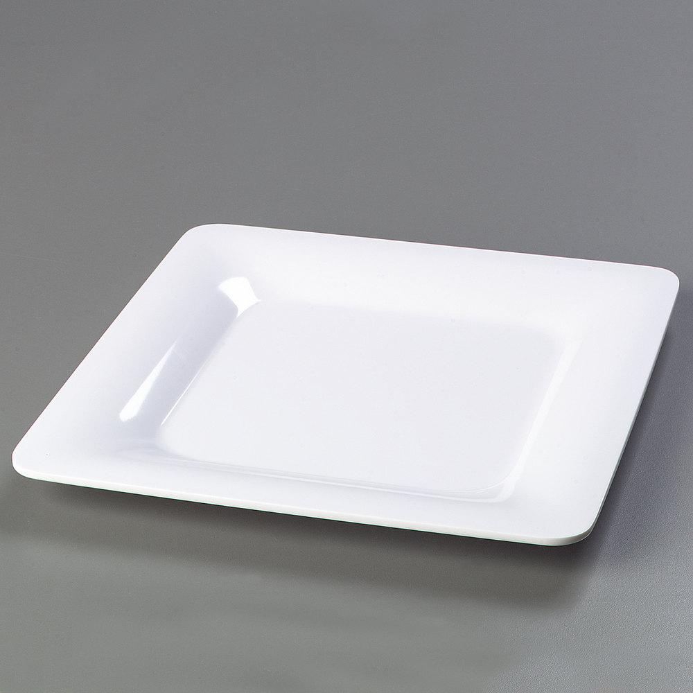 "Carlisle 4440002 Palette Designer Displayware White 12"" Melamine ... for Square Plate Designs  55jwn"