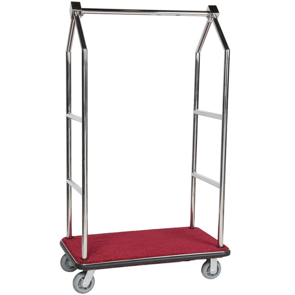Aarco Lc 2c Stainless Steel Chrome Finish Luggage Cart