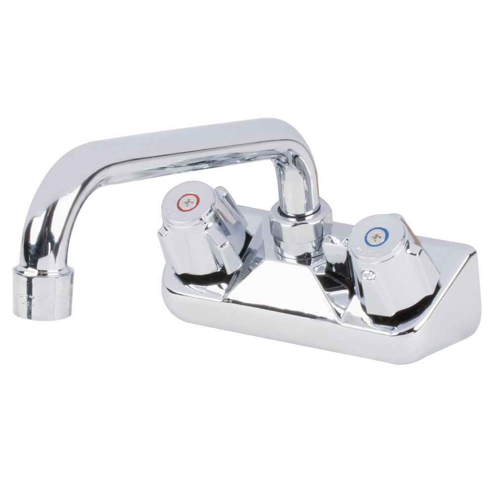 Regency Wall Mount Bar Sink Faucet With 4 Inch Centers And 8 Inch Swing  Spout