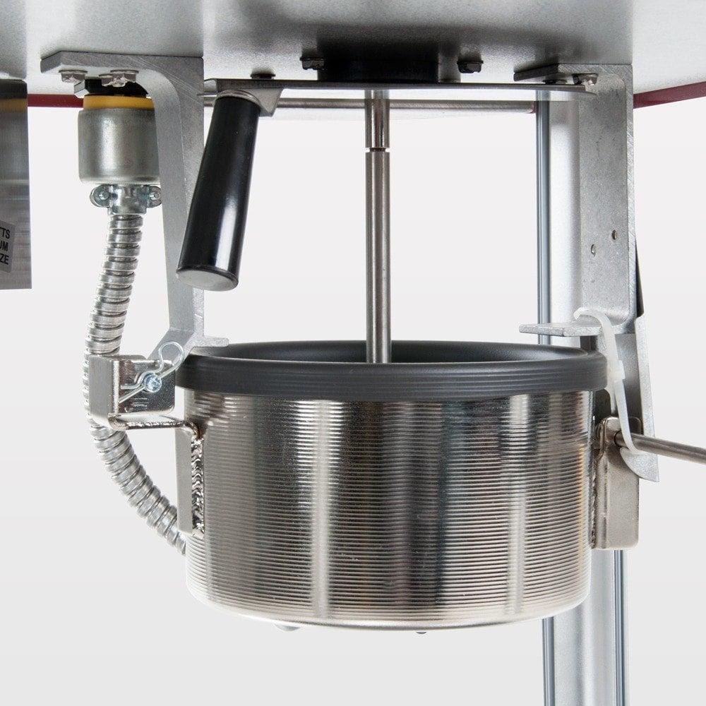 Close up of an aluminum kettle
