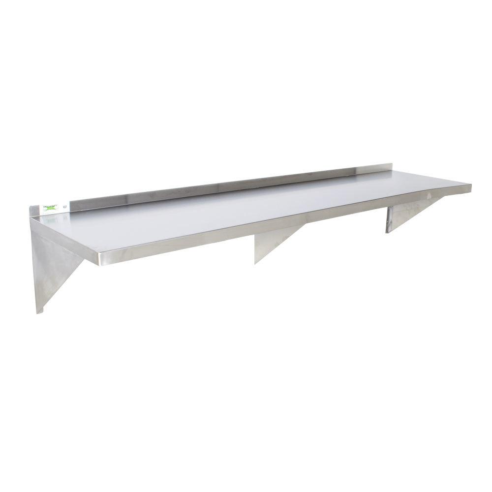 Regency 16 gauge stainless steel 18 inch x 72 inch heavy duty wall shelf