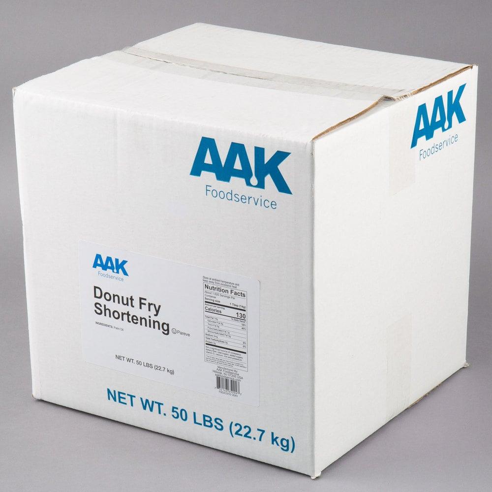 Box of AAK Foodserve Donut Fry Shortening