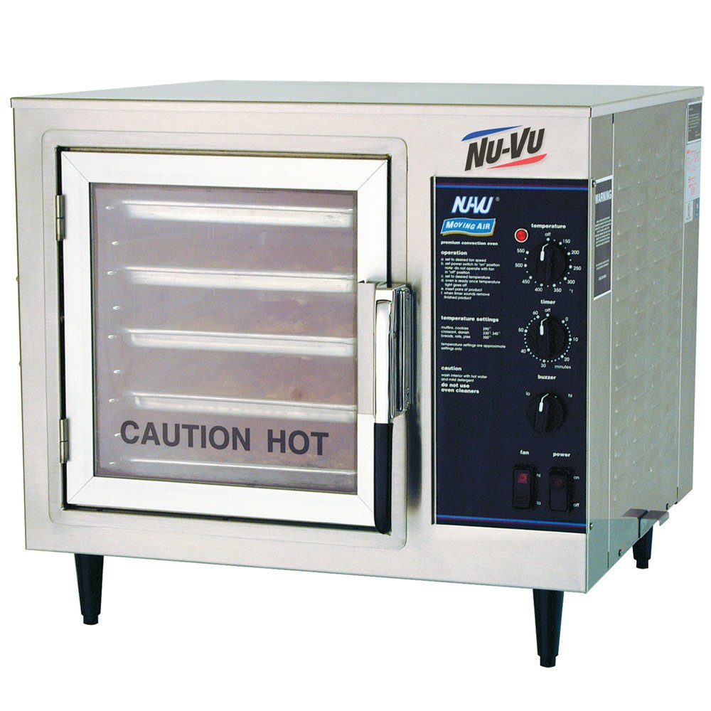 Electric Convection Oven ~ Nu vu xo m half size electric countertop convection oven