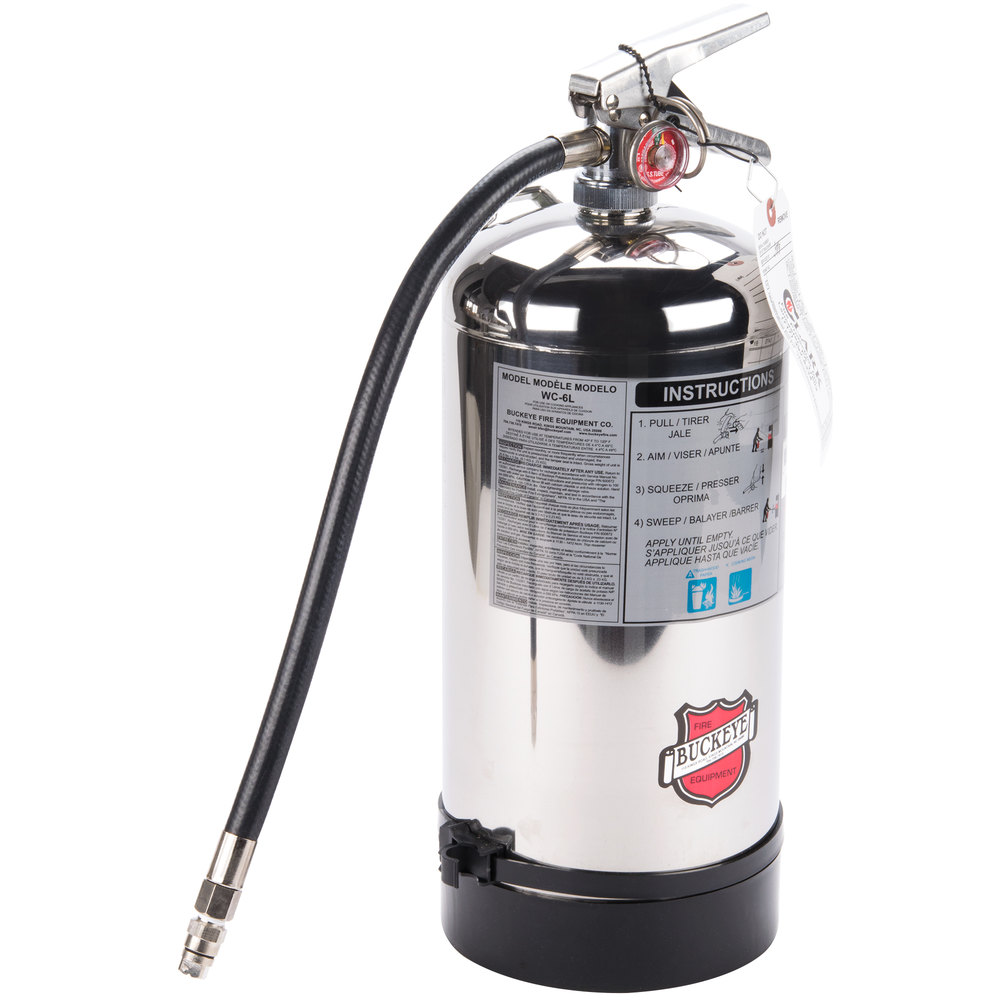 K Fire Extinguisher : Buckeye class k wet chemical fire extinguisher liter
