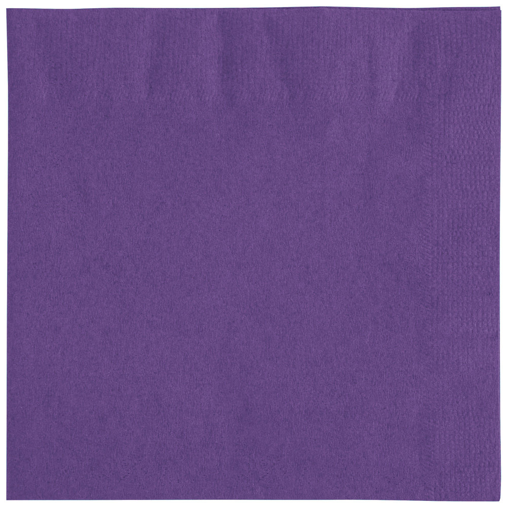 Choice 10 inch x 10 inch Purple 2-Ply Beverage / Cocktail Napkins - 250 ...