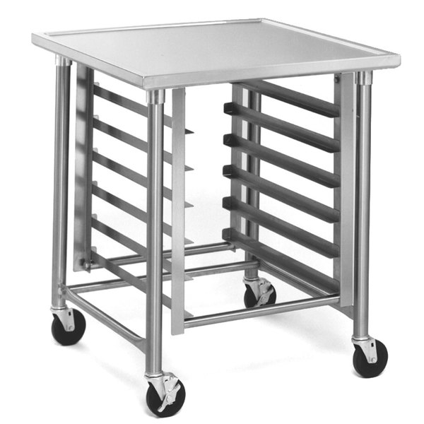"""Eagle Group MMT3036S 30"""" x 36"""" Mobile Mixer Stand with Stainless Steel Legs"""