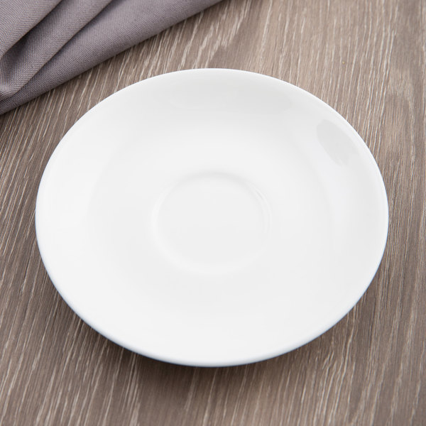 "Chef & Sommelier S0131 Embassy 4 3/4"" White A/D Saucer by Arc Cardinal - 24/Case"