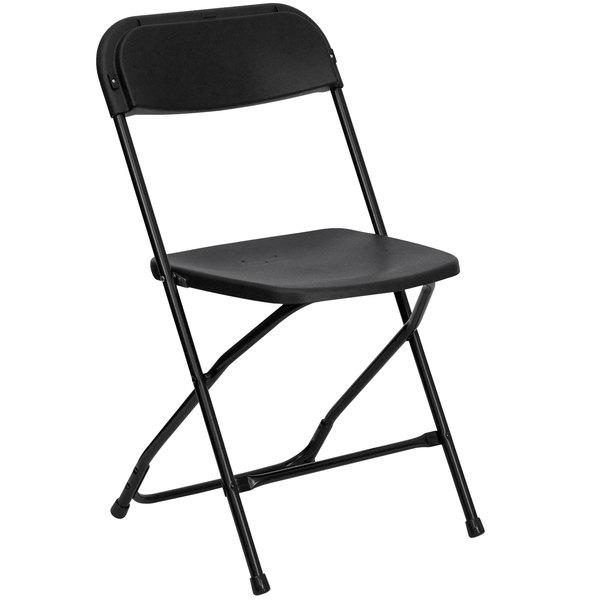 Flash Furniture LE-L-3-BK-GG Black Folding Chair