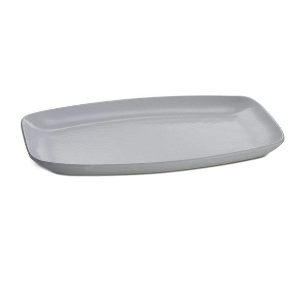 "Tablecraft CW1910N 15"" x 11"" Natural Cast Aluminum Rectangle Fajita Plate Main Image 1"