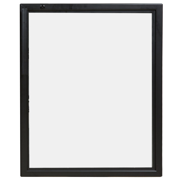 """True 920706 Black Right Hinged Door Assembly with Lights - 25 1/8"""" x 31 7/16"""""""