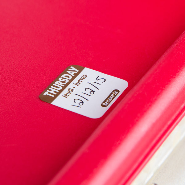 """National Checking Company R104R 1"""" Thursday Day of the Week Removable Label - 1000/Roll"""