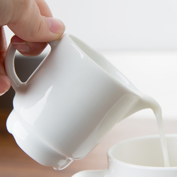 Arcoroc R0817 Candour 3.5 oz. White Stackable Porcelain Creamer by Arc Cardinal - 16/Case