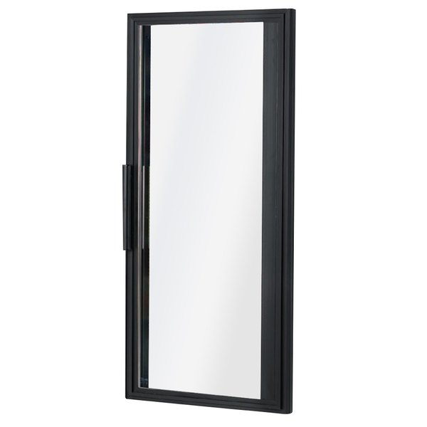 """True 934180 Black Right Hinged Door Assembly with 24K Lights - 25 5/8"""" x 54 1/4"""""""